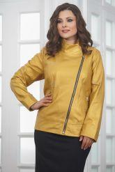 Весенняя кожаная куртка косуха для женщин. Фото 4.