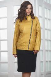 Весенняя кожаная куртка косуха для женщин. Фото 5.