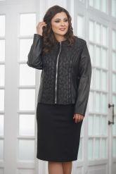 Женская дизайнерская кожаная куртка на молнии. Фото 4.