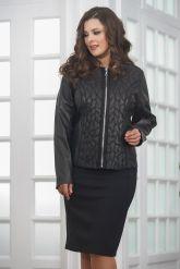 Женская дизайнерская кожаная куртка на молнии. Фото 5.