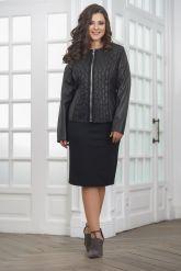 Женская дизайнерская кожаная куртка на молнии. Фото 6.