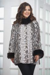 Женская демисезонная кожаная куртка под питона. Фото 5.