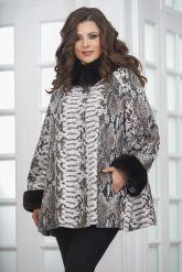 Женская демисезонная кожаная куртка под питона. Фото 6.