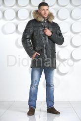 Мужской кожаный пуховик. Фото 1.