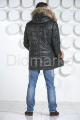 Мужской кожаный пуховик. Фото 5.