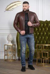 Короткая мужская кожаная куртка Весна-2020. Фото 1.