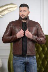 Короткая мужская кожаная куртка Весна-2020. Фото 2.
