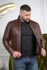 Короткая мужская кожаная куртка Весна-2020. Фото 4.