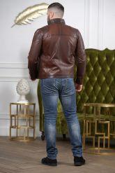 Короткая мужская кожаная куртка Весна-2020. Фото 5.