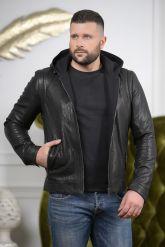 Короткая мужская куртка с капюшоном. Фото 3.