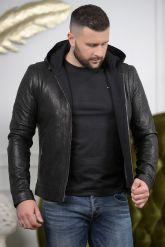 Короткая мужская куртка с капюшоном. Фото 4.