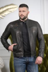 Хит сезона 2019 мужская кожаная куртка. Фото 2.