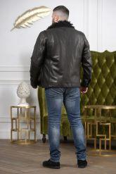 Мужская дубленка с мехом барашка. Фото 1.