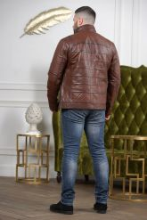 Мужская кожаная куртка цвета виски. Фото 1.