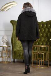 Замшевая куртка с мехом чернобурки. Фото 1.