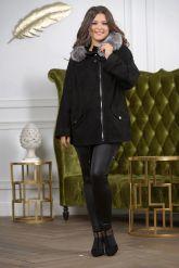 Замшевая куртка с мехом чернобурки. Фото 3.