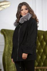Замшевая куртка с мехом чернобурки. Фото 11.