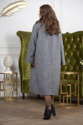 Женское пальто больших размеров. Фото 1.
