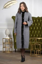 Женское пальто больших размеров. Фото 2.