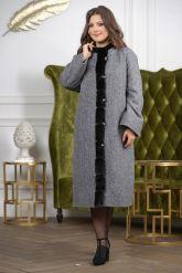 Женское пальто больших размеров. Фото 7.