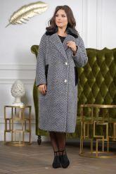 Деловое двубортное женское пальто. Фото 4.