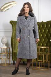 Деловое двубортное женское пальто. Фото 6.