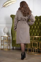 Женское пальто больших размеров с меховой опушкой. Фото 2.
