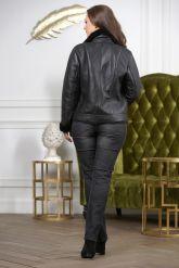 Короткая модная женская дубленка. Фото 1.