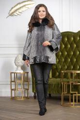 Женская замшевая куртка с капюшоном. Фото 2.