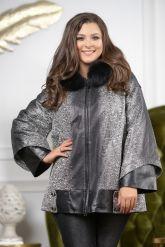Женская замшевая куртка с капюшоном. Фото 5.