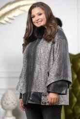 Женская замшевая куртка с капюшоном. Фото 6.