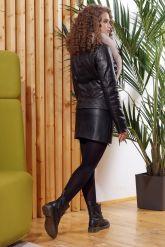Женская кожаная куртка с мехом - автоледи. Фото 2.