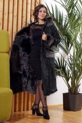 Зимняя женская дубленка с мехом тоскана. Фото 1.