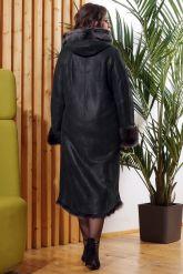 Зимняя женская дубленка с мехом тоскана. Фото 2.