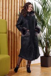 Зимняя женская дубленка с мехом тоскана. Фото 4.