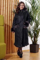 Зимняя женская дубленка с мехом тоскана. Фото 6.