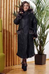 Зимняя женская дубленка с мехом тоскана. Фото 7.