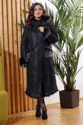 Зимняя женская дубленка с мехом тоскана. Фото 8.