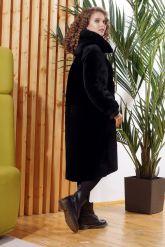 Двусторонняя дубленка черного цвета 2019. Фото 1.