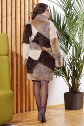 Стильное двустороннее пальто в стиле Пэчворк. Фото 1.