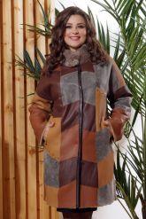 Стильное двустороннее пальто в стиле Пэчворк. Фото 2.