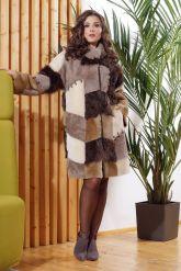 Стильное двустороннее пальто в стиле Пэчворк. Фото 5.