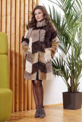 Стильное двустороннее пальто в стиле Пэчворк. Фото 6.