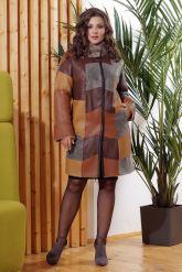 Стильное двустороннее пальто в стиле Пэчворк. Фото 8.