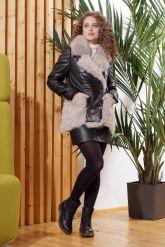 Теплая кожаная куртка автоледи. Фото 2.