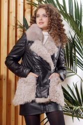 Теплая кожаная куртка автоледи. Фото 4.