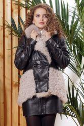 Теплая кожаная куртка автоледи. Фото 6.