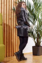 Зимняя кожаная куртка с мехом чернобурки. Фото 2.