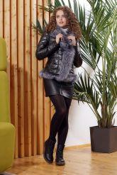 Зимняя кожаная куртка с мехом чернобурки. Фото 4.