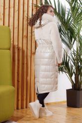 Зимнее комбинированное кожаное пальто. Фото 1.